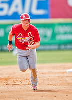 13 March 2016: St. Louis Cardinals catcher Carson Kelly, ranked the 13th Top Prospect in the Cardinals organization for 2016 by MLB, in action during a pre-season Spring Training game against the Washington Nationals at Space Coast Stadium in Viera, Florida. The teams played to a 4-4 draw in Grapefruit League play. Mandatory Credit: Ed Wolfstein Photo *** RAW (NEF) Image File Available ***