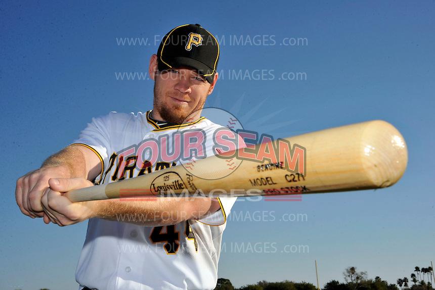 Feb 28, 2010; Bradenton, FL, USA; Pittsburgh Pirates  outfielder Brandon Moss (44) during  photoday at Pirate City. Mandatory Credit: Tomasso De Rosa/ Four Seam Images
