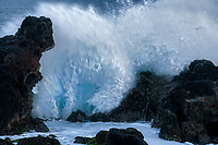 Waves at  Hookipa Beach. Maui, Hawaii