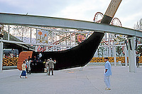 Vancouver: EXPO '86--Enormous Hockey Stick and Puck. Photo '86.
