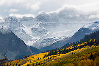 Fall colors and clouds near Mt. Sneffels
