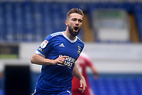 Ipswich Town's Gwion Edwards celebrates scoring his side's first goal <br /> <br /> Photographer Hannah Fountain/CameraSport<br /> <br /> The EFL Sky Bet League One - Ipswich Town v Accrington Stanley - Saturday 17th October 2020 - Portman Road - Ipswich<br /> <br /> World Copyright © 2020 CameraSport. All rights reserved. 43 Linden Ave. Countesthorpe. Leicester. England. LE8 5PG - Tel: +44 (0) 116 277 4147 - admin@camerasport.com - www.camerasport.com