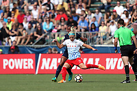 Cary, North Carolina  - Sunday May 21, 2017: Julie Ertz and Rosana during a regular season National Women's Soccer League (NWSL) match between the North Carolina Courage and the Chicago Red Stars at Sahlen's Stadium at WakeMed Soccer Park. Chicago won the game 3-1.