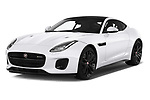 2019 Jaguar F-Type R-Dynamic 2 Door Coupe Angular Front stock photos of front three quarter view