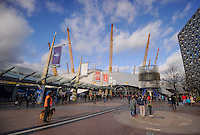 Light security outside of the O2 during Day One of the Barclays ATP World Tour Finals 2015 played at The O2, London on November 15th 2015