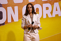 The senator Rome Paola Taverna on the stage during the closing of the election campaign for the new mayor of the Rome.<br /> Rome (Italy), October 1st 2021<br /> Photo Samantha Zucchi Insidefoto