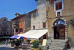 Kroatien, Istrien, Kvarner Bucht, Lovran: historischer Ortskern | Croatia, Lovran: historic centre
