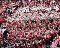 The Georgia Bulldogs beat the App State Mountaineers 45-6 in their homecoming game.  After a close first half, UGA scored 31 unanswered points in the second half.  Georgia fans