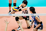 Libero Mako Kobata of Japan plays the ball during the FIVB Volleyball World Grand Prix - Hong Kong 2017 match between Japan and Russia on 23 July 2017, in Hong Kong, China. Photo by Yu Chun Christopher Wong / Power Sport Images
