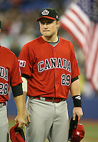 March 7, 2009:  Third Baseman Shawn Bowman (29) of Canada during the first round of the World Baseball Classic at the Rogers Centre in Toronto, Ontario, Canada.  Team USA defeated Canada 6-5 in both teams opening game of the tournament.  Photo by:  Mike Janes/Four Seam Images