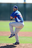 Chicago Cubs pitcher Zach Godley (51) during an Instructional League game against the Arizona Diamondbacks on October 5, 2013 at Salt River Fields at Talking Stick in Scottsdale, Arizona.  (Mike Janes/Four Seam Images)