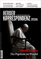 German magazine Herder Korrespondenz Pope Francis.2015  Photograph by Stefano Spaziani