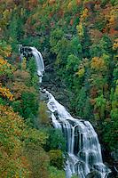 Whitewater Falls, Whitewater River<br /> Nantahala National Forest<br /> Blue Ridge Mountains<br /> North Carolina