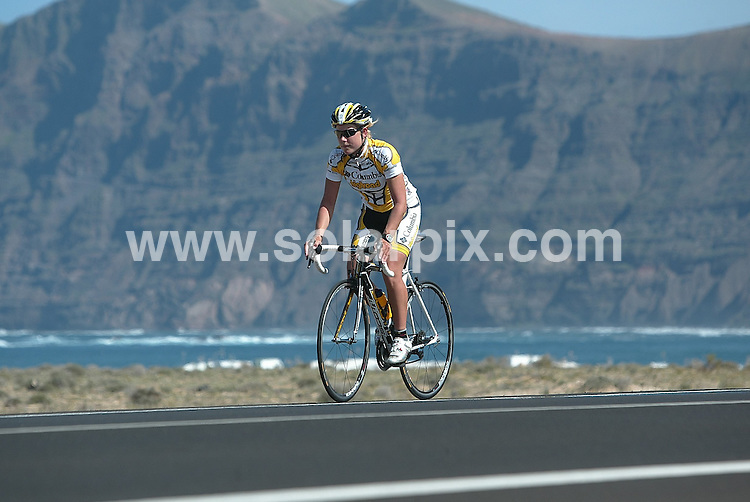 **ALL ROUND PICTURES FROM SOLARPIX.COM**.**WORLDWIDE SYNDICATION RIGHTS**.Top Danish and Columbia team road cyclist Linda Villumson in training on the island of Lanzarote in preparation for the major bike race in Qatar, UAE, next week. 2 February 2009..This pic: Linda Villumson..JOB REF: 8390 BFY     DATE: 02_02_2009.**MUST CREDIT SOLARPIX.COM OR DOUBLE FEE WILL BE CHARGED* *ONLINE USAGE FEE £50.00 PER PICTURE - NOTIFICATION OF USAGE TO PHOTO@SOLARPIX.COM*