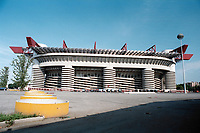 General view of the San Siro Stadium, Milan, Italy, home to AC Milan and Inter Milan, pictured on 24th July 1993