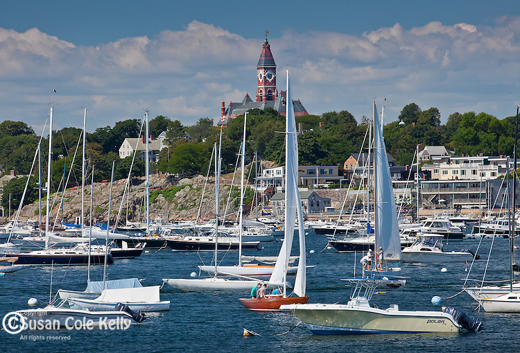 Sailing in Marblehead Harbor, Marblehead, MA, USA
