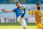 20.02.2021, xtgx, Fussball 3. Liga, FC Hansa Rostock - SV Waldhof Mannheim, v.l. Pascal Breyer (Hansa Rostock, 39), Mohamed Gouaida (Mannheim, 18) <br /> <br /> (DFL/DFB REGULATIONS PROHIBIT ANY USE OF PHOTOGRAPHS as IMAGE SEQUENCES and/or QUASI-VIDEO)<br /> <br /> Foto © PIX-Sportfotos *** Foto ist honorarpflichtig! *** Auf Anfrage in hoeherer Qualitaet/Aufloesung. Belegexemplar erbeten. Veroeffentlichung ausschliesslich fuer journalistisch-publizistische Zwecke. For editorial use only.
