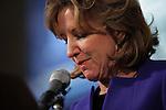 GREENSBORO, NC - NOVEMBER 4:   Sen. Kay Hagan (D-N.C.) concedes the Senate race in North Carolina to Republican Thom Tillis    in Greensboro, NC, on Tuesday, November 4, 2014.  (Photo by Ted Richardson/For The Washington Post)