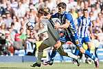 Luka Modric (l) of Real Madrid competes for the ball with Manuel Alejandro Garcia Sanchez of Deportivo Alaves during their La Liga match between Real Madrid and Deportivo Alaves at the Santiago Bernabeu Stadium on 02 April 2017 in Madrid, Spain. Photo by Diego Gonzalez Souto / Power Sport Images