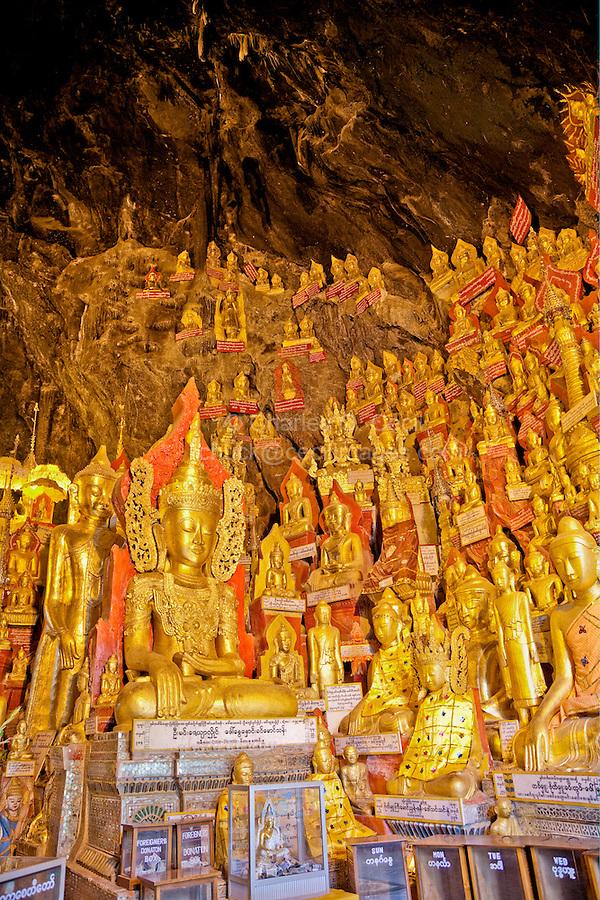 Buddha Statues in Shwe Oo Min Cave, Pindaya, Shan State, Myanmar, Burma