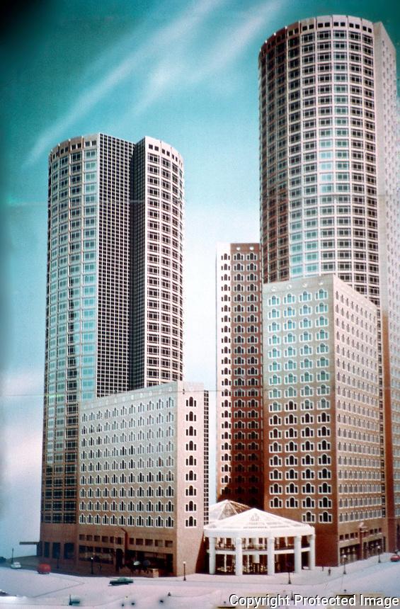 John Burgee Architects with Philip Johnson: International Place, Boston.  Photo '88.