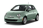 2017 Fiat 500 Pop 3 Door Hatchback Angular Front stock photos of front three quarter view