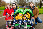 Enjoying a stroll in the Tralee town park on Monday, l to r: Isabella, Carol Ann, twins Jack and Oliver and Kieran Daly.