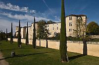 Europe/France/Aquitaine/24/Dordogne/Périgueux: Jardins du musée Vesunna et maisons sur les remparts