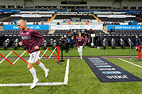 Mike van der Hoorn of Swansea City exits the tunnel to start pre-match warm-up prior to the Sky Bet Championship match between Swansea City and Preston North End at the Liberty Stadium, Swansea, Wales, UK. Saturday 11 August 2018