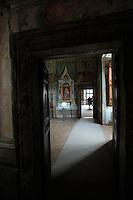 Affreschi nell'appartamento nobile..Frescoes in the Noble apartment..Villa d'Este di Tivoli, patrimonio mondiale dell' UNESCO..Villa d'Este is included in the UNESCO world heritage list..