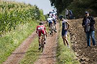 #13 Florian Sénéchal (FRA/Cofidis) over a muddy gravel section<br /> <br /> Dwars door het Hageland (1.1)<br /> 1 Day Race: Aarschot > Diest (194km)