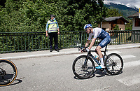 another anonymous day in the pack for Chris Froome (GBR/Israel Start-Up Nation)...<br /> <br /> 73rd Critérium du Dauphiné 2021 (2.UWT)<br /> Stage 7 from Saint-Martin-le-Vinoux to La Plagne (171km)<br /> <br /> ©kramon