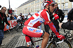 """Joaquim """"Purito"""" Rodriguez (ESP) Team Katusha at sign on before the start of the 98th edition of Liege-Bastogne-Liege outside the Palais des Princes-Eveques, running 257.5km from Liege to Ans, Belgium. 22nd April 2012.  <br /> (Photo by Eoin Clarke/NEWSFILE)."""