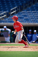 Philadelphia Phillies Hunter Hearn (22) at bat during an Instructional League game against the Toronto Blue Jays on September 17, 2019 at Spectrum Field in Clearwater, Florida.  (Mike Janes/Four Seam Images)
