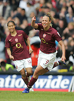 Arsenal vs Leeds United - Womens FA Cup Final at Millwall Football Club - 01/05/06 - Lianne Sanderson celebrates having made it 5-0 to the Gunners - (Gavin Ellis 2006)