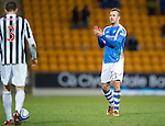 St Johnstone v St Mirren.....23.02.13      SPL.Rowan Vine who scored the only goal of the game applauds the fans.Picture by Graeme Hart..Copyright Perthshire Picture Agency.Tel: 01738 623350  Mobile: 07990 594431