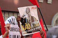 SÃO PAULO,SP, 13.07.2017 - LULA-SP - Militantes do PT fazem ato em frente a sede do Partido dos Trabalhadores (Pt), no centro de São Paulo na manhã desta quinta-feira (13).<br /> <br /> (Foto: Fabricio Bomjardim / Brazil Photo Press)