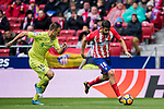 Diego Costa (R) of Atletico de Madrid fights for the ball with Juan Torres Ruiz, Cala, of Getafe CF during the La Liga 2017-18 match between Atletico de Madrid and Getafe CF at Wanda Metropolitano on January 06 2018 in Madrid, Spain. Photo by Diego Gonzalez / Power Sport Images