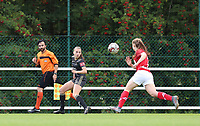 Second assistant Salih Odemis (L), OHL's Jill Janssens (7) (M) and Standard's Gwyneth Vanaenrode (3)(R) pictured during a female soccer game between Standard Femina de Liege and Oud Heverlee Leuven on the second matchday of the 2020 - 2021 season of Belgian Scooore Women s SuperLeague , saturday 5 th of September 2020  in Angleur , Belgium . PHOTO SPORTPIX.BE | SPP | SEVIL OKTEM