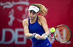 Katerina Siniakova of Czech Republic vs Nicole Gibbs of USA during their Singles Round 1 match at the WTA Prudential Hong Kong Tennis Open 2016 at the Victoria Park Tennis Stadium on 10 October 2016 in Hong Kong, China. Photo by Marcio Rodrigo Machado / Power Sport Images