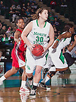 North Texas Mean Green forward Sara Stanley (30) in action during the game between the Louisiana Lafayette Ragin' Cajuns and the University of North Texas Mean Green at the North Texas Coliseum,the Super Pit, in Denton, Texas. UNT defeats Louisiana Lafayette 78 to 40....