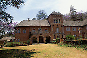 Shiwa, Zambia. Grand colonial red brick house owned by the Harvey family.