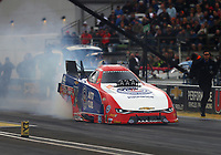 Sep 1, 2017; Clermont, IN, USA; NHRA funny car driver Robert Hight during qualifying for the US Nationals at Lucas Oil Raceway. Mandatory Credit: Mark J. Rebilas-USA TODAY Sports