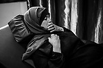 GAZA, Palestine: Oum Ahmed is doing some exercises with the help of an MSF physiotherapist and got tired by the pain, 27th of October 2019. Three times a week, Oum Ahmed goes to the MSF (Médecins sans frontière) clinic where she receives proper treatment and medication.   <br /> <br /> GAZA, Palestine: Oum Ahmed fait quelques exercices avec l'aide d'un physiothérapeute MSF mais devient fatiguée par la douleur, le 27 octobre 2019. Trois fois par semaine, Oum Ahmed se rend à la clinique MSF (Médecins sans frontière) où elle reçoit les soins appropriés.