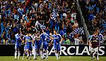 SO KON PO, HONG KONG - JULY 30: Chelsea players celebrate team first goal against  Aston Villa during the Asia Trophy pre-season friendly match at the Hong Kong Stadium on July 30, 2011 in So Kon Po, Hong Kong.  Photo by Victor Fraile / The Power of Sport Images
