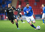 St Johnstone v Motherwell......27.10.13      SPFL<br /> Gary McDonald and Paul Lawson<br /> Picture by Graeme Hart.<br /> Copyright Perthshire Picture Agency<br /> Tel: 01738 623350  Mobile: 07990 594431