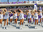 TCU Horned Frogs cheerleaders in action during the game between the Virginia Cavaliers and the TCU Horned Frogs  at the Amon G. Carter Stadium in Fort Worth, Texas. TCU defeats Virginia 27 to 7...