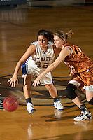 SAN ANTONIO, TX - JANUARY 6, 2007: The University of Texas of the Permian Basin Falcons vs. the St. Mary's University Rattlers Women's Basketball at Bill Greehey Arena. (Photo by Jeff Huehn)