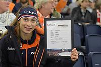 SPEEDSKATING: HEERENVEEN: 11-01-2020, IJsstadion Thialf, European Championship distances, Femke Kok (NED) world record junior 37.66, ©foto Martin de Jong