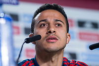 Spain coach Thiago Alcantara during press conference the day before Spain and Argentina match at Wanda Metropolitano in Madrid , Spain. March 26, 2018.  *** Local Caption *** © pixathlon<br /> Contact: +49-40-22 63 02 60 , info@pixathlon.de